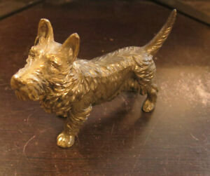 Antique Jennings Brothers 6 Decorative Metal Terrier Dogs