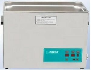 New Crest 2 5 Gallon Cp1200d Ultrasonic Heated Cleaner