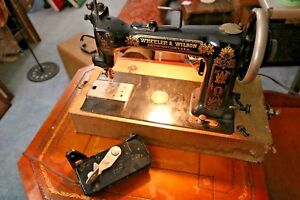 Antique Wheeler Wilson W 9 Working Sewing Machine