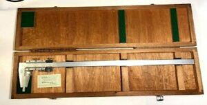 Mitutoyo Nib Jaw Fine Adjustment Vernier Caliper 24 Stainless W case