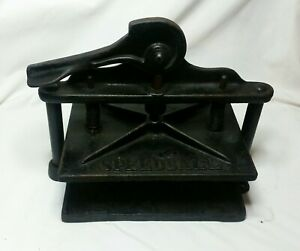 Speedball Letterpress Printing Press Antique Vintage Cast Iron Rare