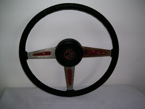 Vintage Mg Steering Wheel