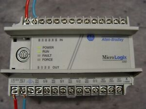 Allen Bradley Micrologix 1000 1761 l10bwa Series F Frn 1 1 With Comms Cable