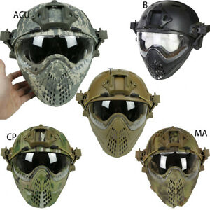 Fast Tactical Helmet Goggles Lens Full Face Mask Outdoor Activities Practical L