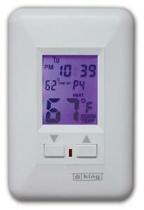 King Esp230 r Electronic Line voltage Programmable Thermostat White