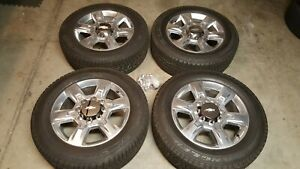 Chevy Gmc Oem Factory 20 Inch Wheels Rims And Tires 8 Lug Hd Truck 2500 3500
