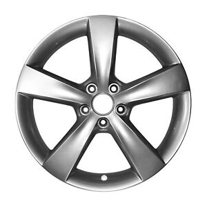 18x7 5 5 Spoke Alloy Wheel New For Dodge Bright Silver Metallic Painted 2479