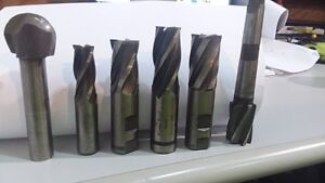 Assorted Lot Of 6 Used End Mills5 Ball Mill 1 Machinist Tools