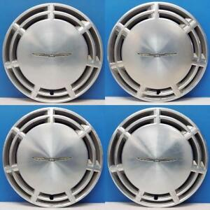 1987 1988 Ford Thunderbird 860 14 Hubcaps Wheel Covers Oe E7sz1130b Set 4