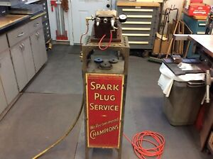 Vintage Champion Spark Plug Cleaner And Tester Survivor From The 1930 s