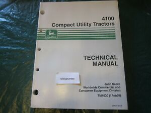 John Deere 4100 Compact Utility Tractor Technical Manual Lots More Listed Lg9