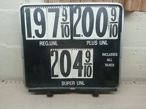 Vintage Advertising Gas Station Pump Topper Price Sign Letters Numbers