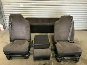 00 02 Dodge Ram 2500 Used 40 20 40 Front Manual Bucket Cloth Seats W Console