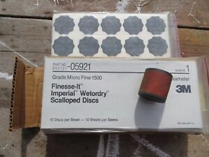 3m 05921 Finesse It Wetordry 1 3 8 Scallop Disc 1500 Grade 7 Packages