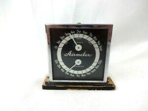 Vtg 1930s 1950s Airmeter Inc Dash Thermometer Humid Gauge Chevy Ford Airmeter