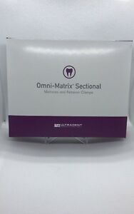 Dental Ultradent Omni matrix Sectional Kit W Clamps Ref 318