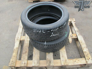 Two 2 Continental Contiprocontact 245 40 R18 245 40 Set Of 2 Tires High Tread