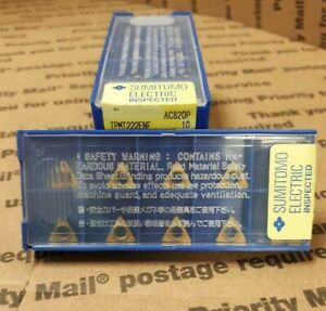 Sumitomo 19rj473 Carbide Coated Insert Tpmt222enf ac820p 10 Pack