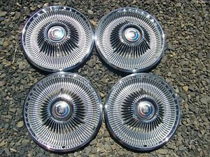 1967 Chrysler 300 4 Hubcaps Wheel Covers 1968 300 Nice Oem 14