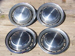 1970 Chrysler Town Country Hubcaps 4 Oem 15 Hollander 349 New Yorker