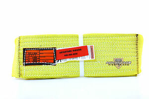 Ee2 904 X3ft Nylon Lifting Sling Strap 4 Inch 2 Ply 3 Foot Usa Made Package Of 2