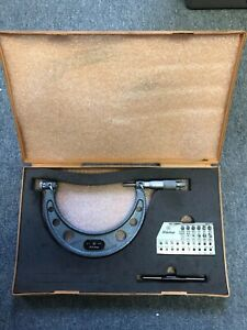 Mitutoyo Thread Pitch Micrometer 4 5 No 126 141a