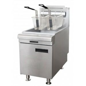 Black Diamond Stainless Steel 75k Btu Gas Countertop Fryer Lp 45 Lb Bdctf 75 lpg