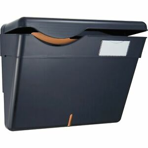 Officemate Security Wall File W Lid 13 1 4 x4 3 4 x9 3 4 Black 21472