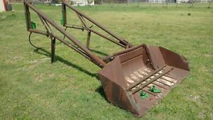 John Deere Model 45 Tractor Front Loader With Bucket Fits A B 60 50 Etc