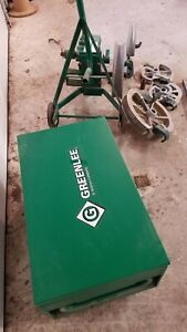 Greenlee 1818 Mechanical Bender 1 2 2 Emt Imc Rigid 5 Shoes Storage Box 13