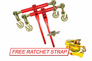 5 16 Transport Hauling Load Trailer 2 Ratchet Binders Free Wire J Ratchet Strap
