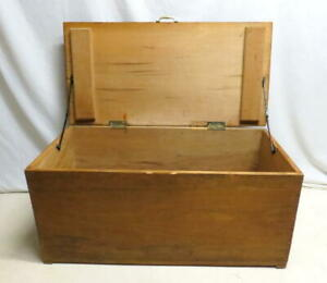 Antique Old Wooden Hope Chest Blanket Tool Toy Box Trunk Bench Seat Plank Wood