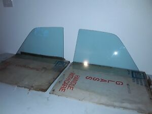 Nos Gm 66 67 Nova Tinted Rear Side Glass Windows 1966 1967 Chevy Ii