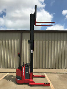 2006 Raymond Rss40 Walk Behind Forklift Walkie Straddle Stacker 128 3750lb