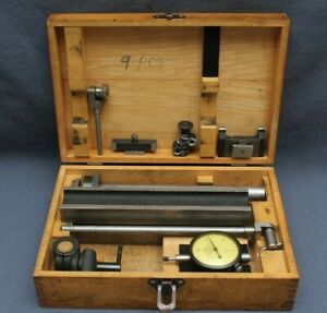 Federal C5m Dial 0005 Indicator Stand inspector Set W wooden Case Nice