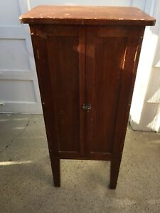 Vintage Wood Record Nd Sheet Music Cabinet