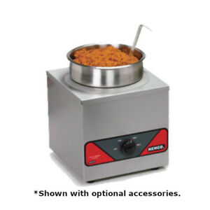 Nemco 6110a icl 4 quart Countertop Round Warmer With Inset Cover Ladle