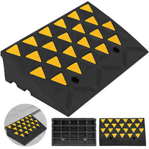 11000lb Rubber Curb Ramp 23 6 x13 8 x6 Skid Resistance Forklift Rubber