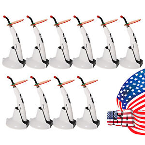 10pcs Us Dental Led Curing Light Lamp Wireless 1400mw Woodpecker Style Led b B d