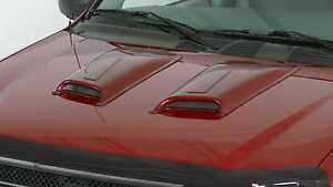 2 Piece Racing Accent Hood Scoops For 2004 2005 Chevrolet Colorado Z85