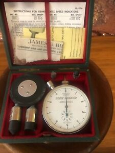 Vintage Machinists Tool Biddle 10 000 Rpm Dial Speed Indicator Set In Box