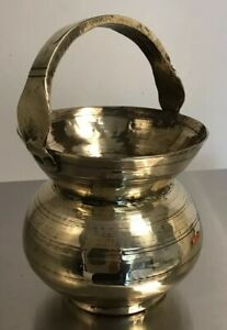 Vintage Antique Brass Arts And Craft Design Spittoon Vase Planter Persian
