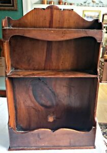 Vintage To Antique Wood Wall Display Shelf 12 X 17 With Beautiful Patina Nr