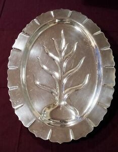 Rogers Silverplate 16 Footed Meat Serving Platter Malden 4010