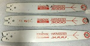 3 new nos Sandvik Windsor Harvester 3000 Bar Bell Feller Buncher 75cm 301675404
