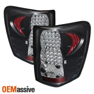 Fits 99 04 Jeep Grand Cherokee Suv Led Black Tail Lights Brake Lamp Left