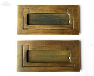 2 Antique Style Modern Inset Flush Lift Mount Trunk Drawer Chest Pull Handle P21