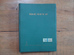 1962 Deutz Types F a 6 12 L 714 Air cooled Diesel Engines Workshop Manual
