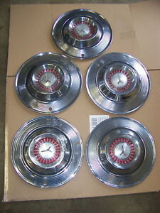 1964 Plymouth Belvedere Fury 14 Hubcaps Oem 5
