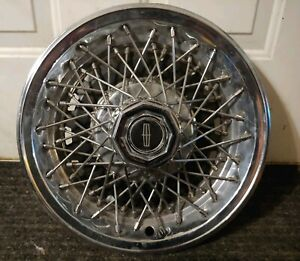 Lincoln Town Car E G Classic Continental Kit Wire Spoke Hubcap Wheel Cover
